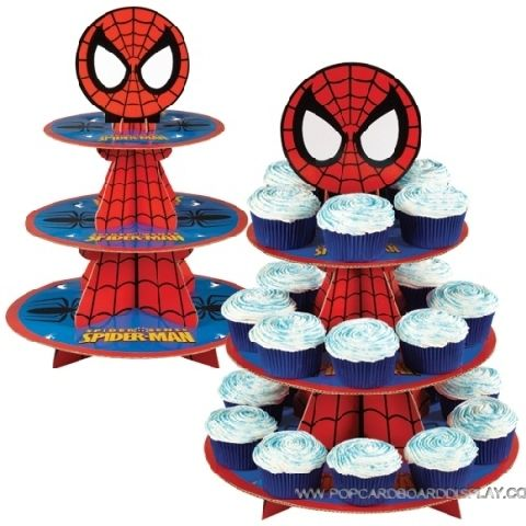 cartoon theme cardboard cupcake stand