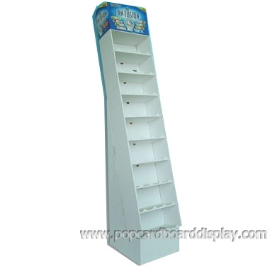 supermarket promotional paper display standee with pocket