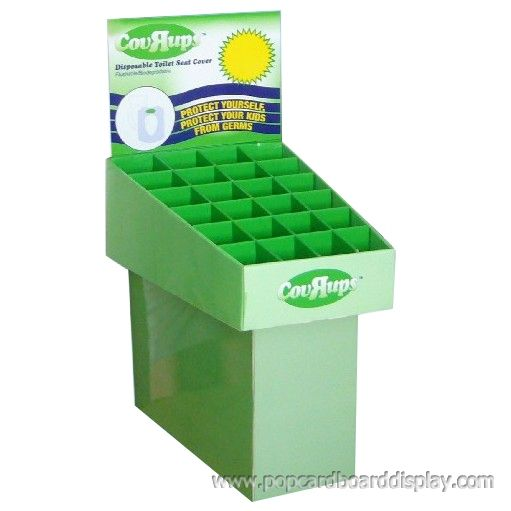 cardboard compartment dump bin display stands for healthy tea