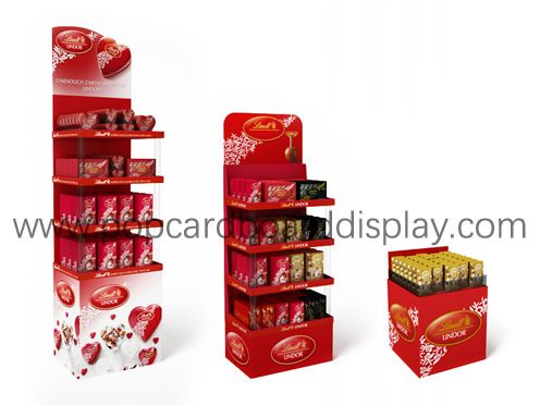 Lindt chocolate products cardboard display stand