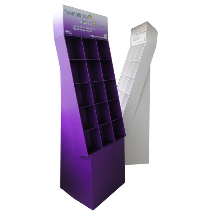 Custom color paperboard carton compartment display stands with logo for pets gift