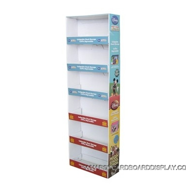 6-tiers practical promotional cardboard display