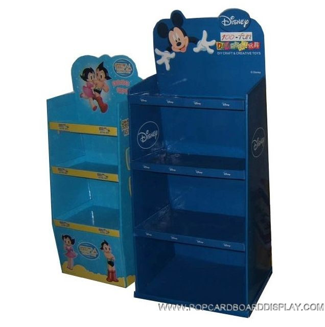 cartoon disney cardboard display rack for candy toy and stationery promotion