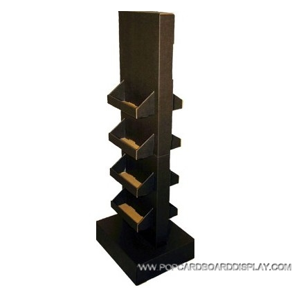 two-sided cardboard upright display stand