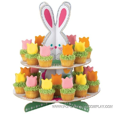 Easter bunny cartoon cupcake stand