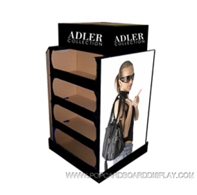 bag advertising cardboard pallet display stand