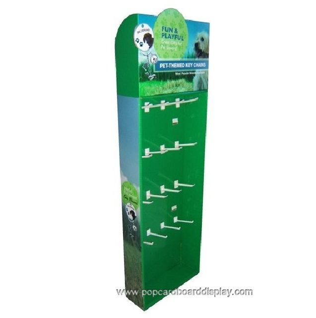 cardboard peg hook display rack for sale