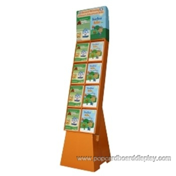 exhibiting cardboard compartment display standee