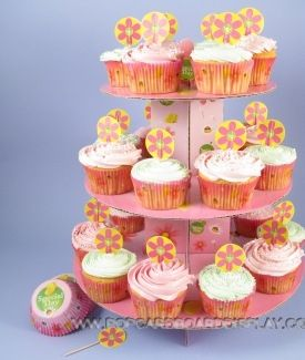 pink beautiful cupcake holder