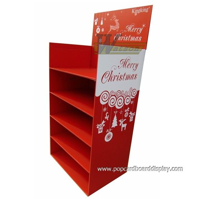christmas theme cardboard display stand