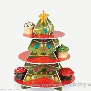 Christmas promotion cardboard cupcake holder cupcake tree