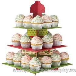square cardboard cupcake stand for birthday party