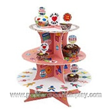birthday theme cardboard cupcake stands