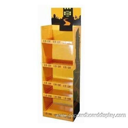 body wash cardboard display rack corrugated promotion display stand