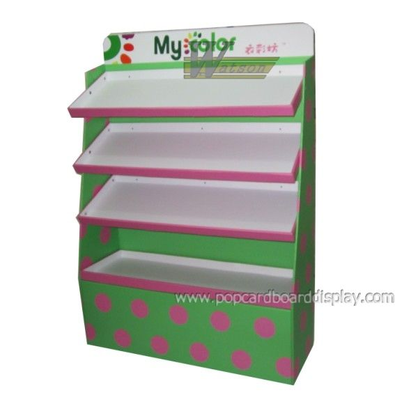 supermarket promotion customized corrugated cardboard display standee paper rack