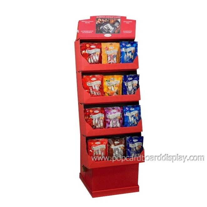 snack and chocolate retail supermarket cardboard display rack