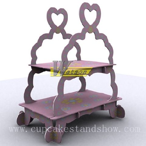 Original design 2 tiers Cardboard Cupcake Stand for Celebration