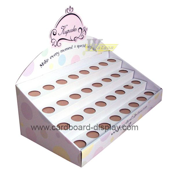 cardboard counter display box with custom inner packing