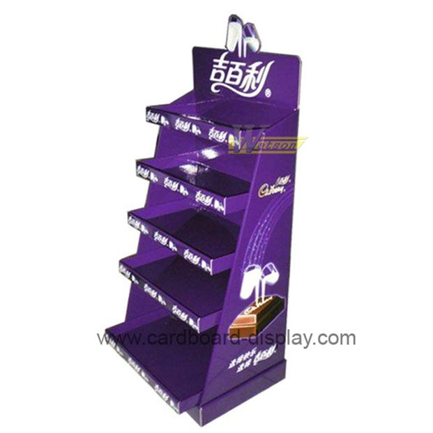 cardboard advertising tray display stand for chocolate bar