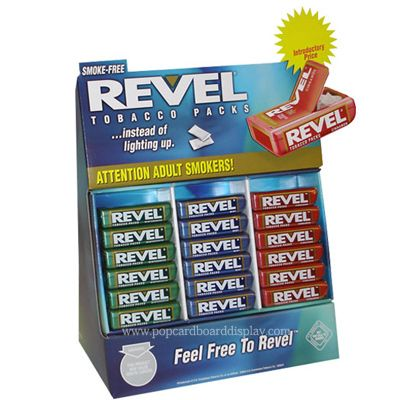 Revel Candy Cardboard Displays  PDQ Snacks counter displays