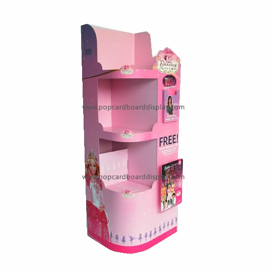 Toy Gifts Cardboard Floor Tray Display Stand For Promotion