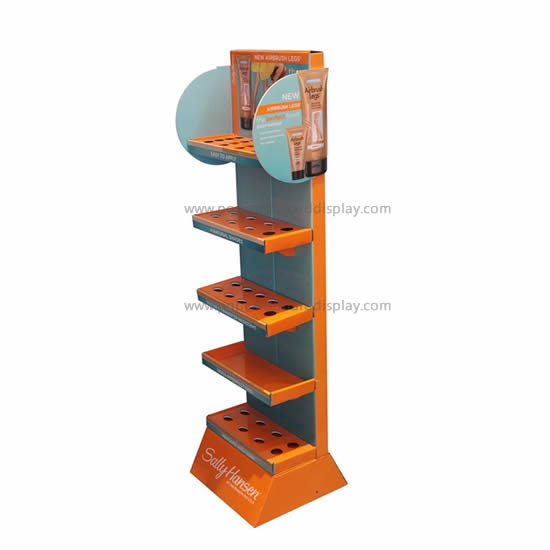 Supply professional design cardboard tray floor display racks for supermaket