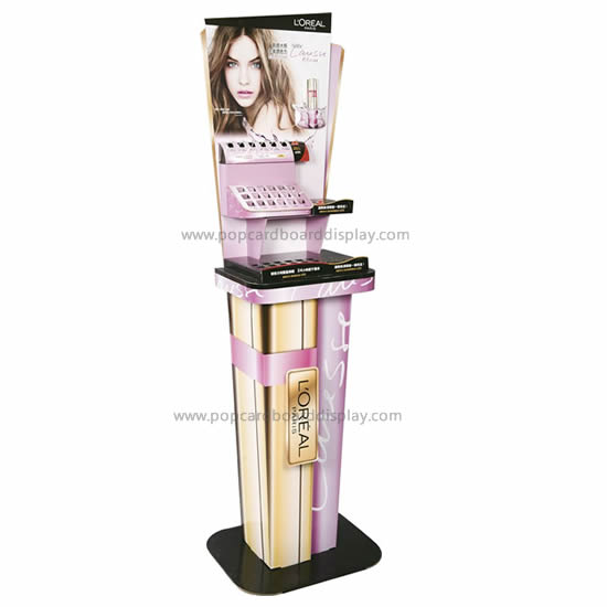 Makeup lipsticks cardboard advertising display standee
