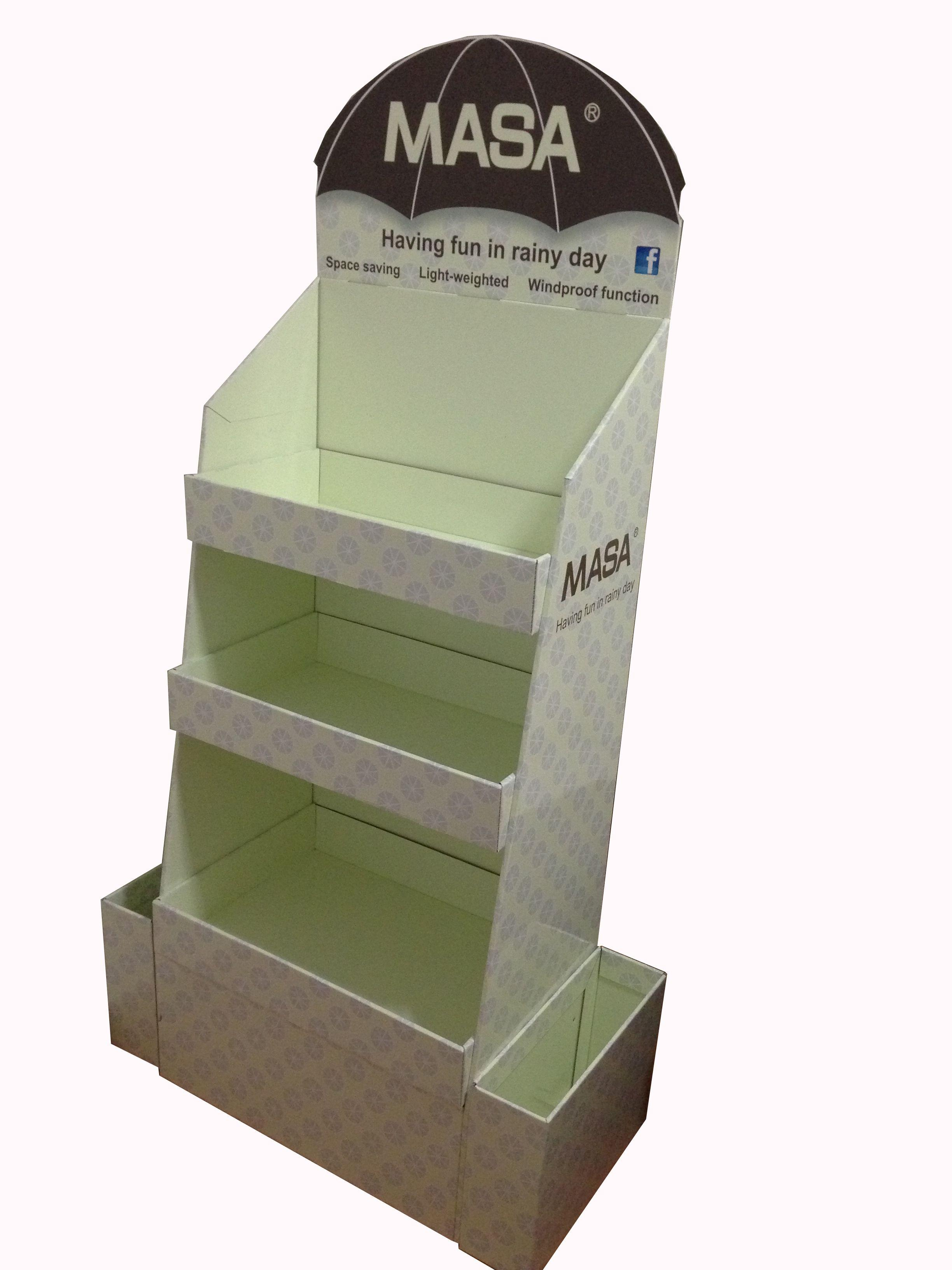 wholesale cardboard counter display with side box